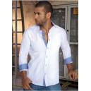 Camisa de hombre manga larga con bolsillos delanteros - color Blanco - JSN