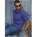 Camiseta Polo de hombre llana con bordado - color Azul - JSN - 800533