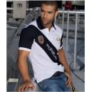 Camiseta Polo de hombre con aplique y bordado - Bicolor - JSN - 800833